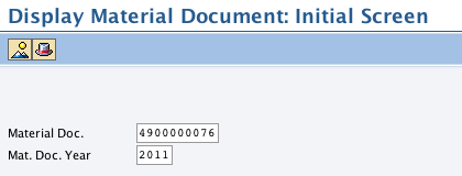 How to view material Documents in SAP – Jan 2011 SAP