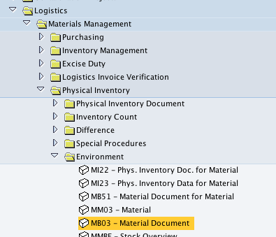 Matdoc Table In Sap